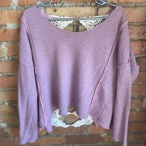 Lacey back Free People sweater/top